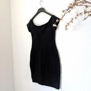 EXPRESS BodyCon Form Fitting LBD Black Dress Mini